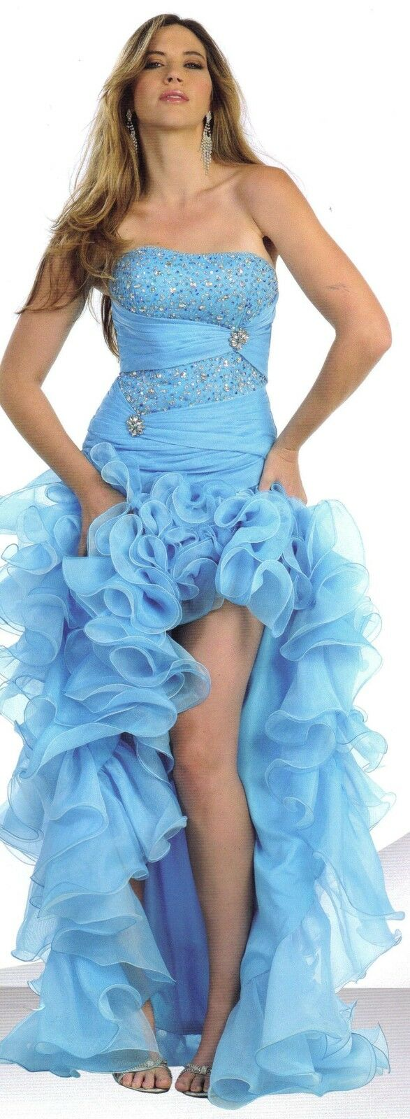 Turquoise Sexy Ball Gown Dress Party Gala Prom Long Short  Evening Pageant SZ 16