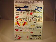 DECALS 1/43 PEUGEOT 306 MAXI RALLY PART 1 - CARPENA  43118