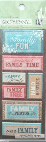 Heritage Photos 7 Pcs. Tree Time K /& Company FAMILY Pillow Stickers Fun