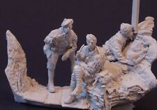 AC Models Allied Trench Scene 3 figures + scenic base WW1 1/32nd Unpainted kit