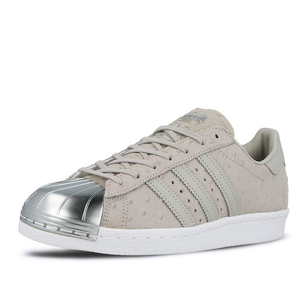 Adidas Damenschuhe Superstar 80's Metal Toe Trainers Clear Grau Leder Schuhes Trainers Toe 958ac6