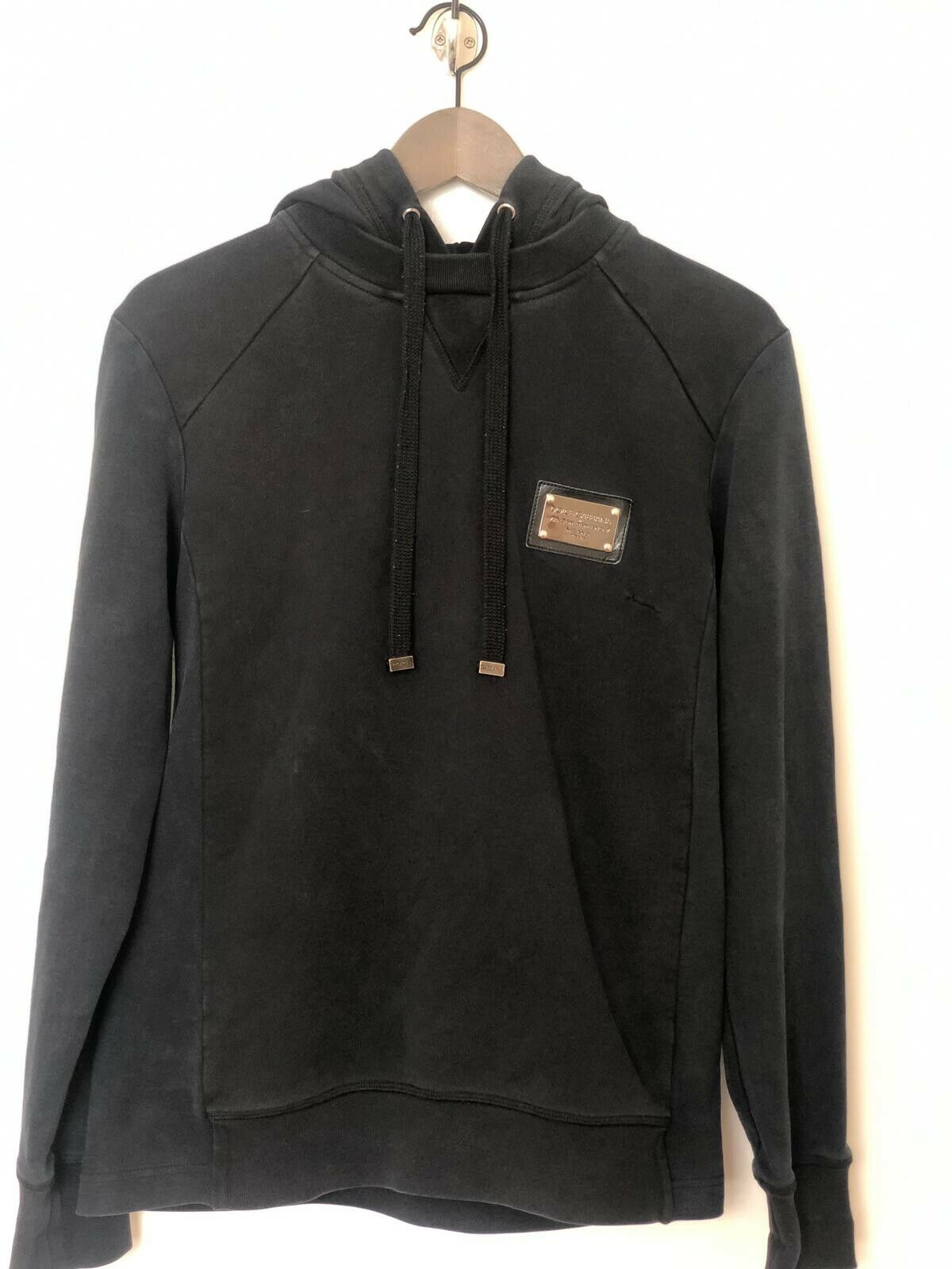 DOLCE & GABBANA HOODIE TWO TONE MAINLINE D&G SIZE 48 MEDIUM USED WITH DEFECT
