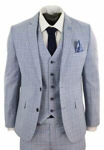 Costume-3-pieces-homme-bleu-clair-carreaux-Prince-de-Galles-coupe-slim-tweed