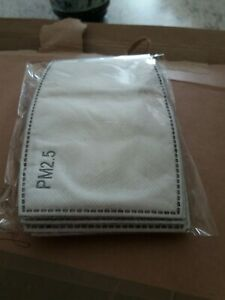 Filtres Masques neufs lot de 10 pièces. Filtres de masque 5 épaisseurs PM2.5.