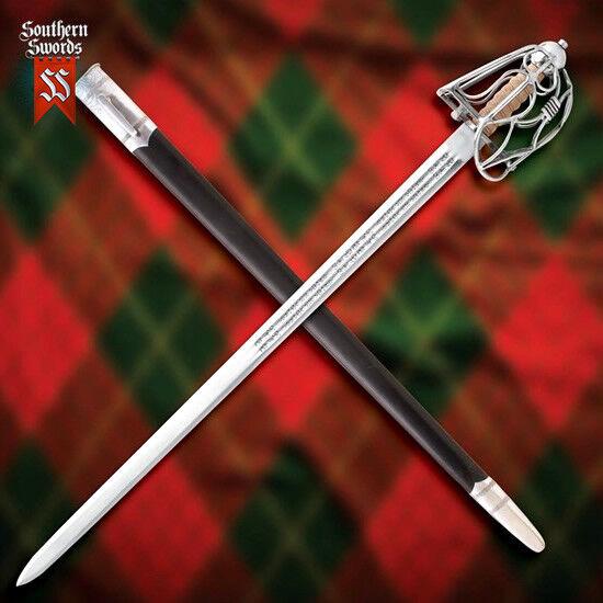 Windlass Mortuary   English Half Basket-Hilt Sword with High Carbon Steel Blade