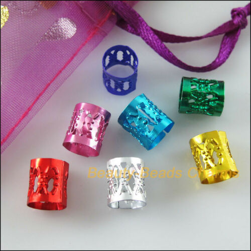 120 New Connectors Flower Tube Spacer Beads Charms Aluminum Mixed 8x9mm