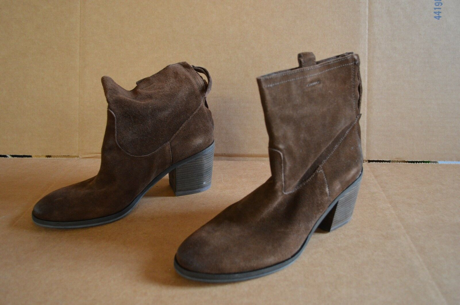 Sam Edelman Women's S-Farrell Brown Suede Ankle Boots 10 M Pre-Owned