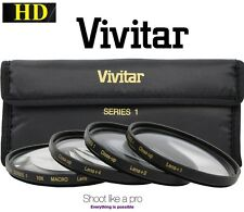 Hi Def 4-Pc Set 55mm Vivitar Close-Up Kit +1 +2 +4 +10 Macro Lens Set
