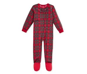 Family Pajamas Boy s or Baby Holiday Plaid Footed Pajamas. Size 18 Months 4bb025d05
