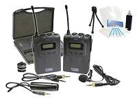 Pro Uhf Wireless Microphone System W/ Lavalier For Sony Slt-a33 Slt-a58