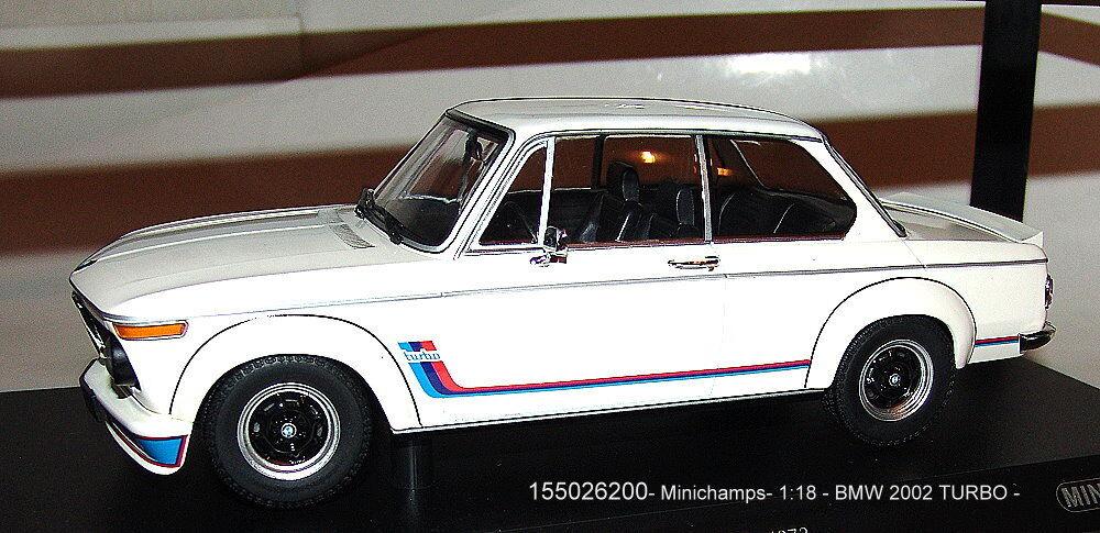 Minichamps 155026200, BMW 2002 Turbo White 1973 1973 1973 1 18 - NIP 4449bf