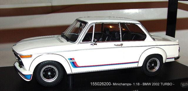 Minichamps 155026200, BMW 2002 Turbo Blancheur 1973 1/18 - Neuf Emballage Scellé