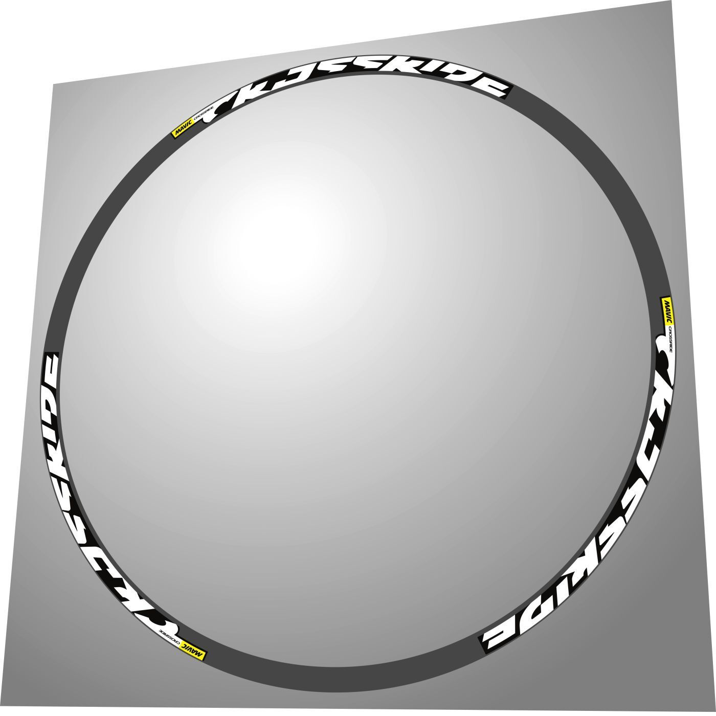 MAVIC CROSSRIDE 2017 650B  27,5 inch  MTB WHITE REPLACEMENT DECAL SET FOR 2 RIMS