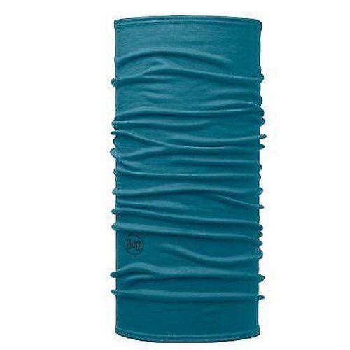 Buff Merino Wool Multifunctional Neck Warmer Headwear Scarf Lake Blue