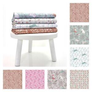 Woodland Nursery French Cotton Prints - Fabric Childrens Nursery Dressmaking