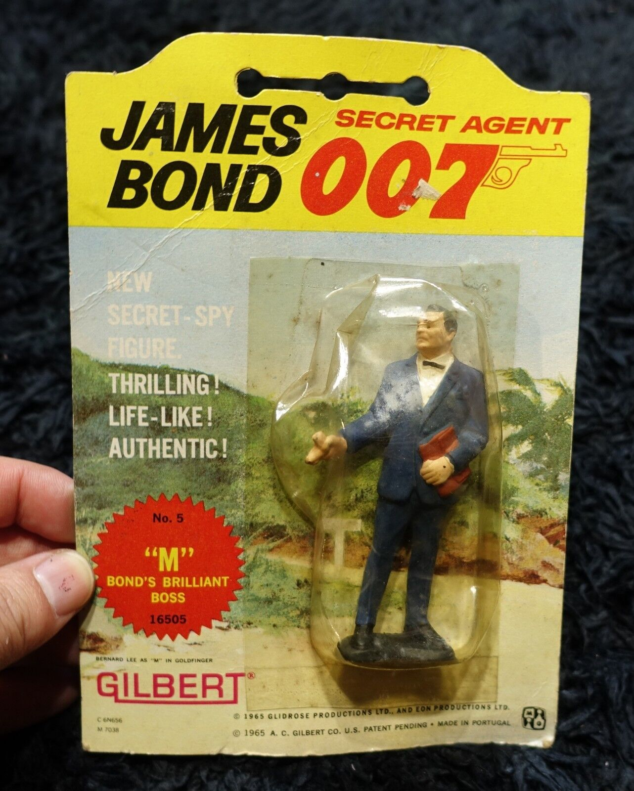 007 BOND'S BRILLIANT BOSS   M   GILBERT VINTAGE FIGURE  007 JAMES BOND