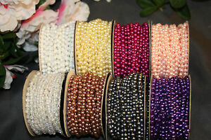 24-Ft-4mm-Wedding-Pearl-Bead-Garland-Rope-MANY-Colors