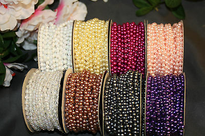 24 Ft 4mm Wedding Pearl Bead Garland Rope MANY Colors