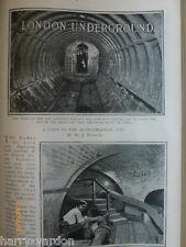 Subterranean London Underground Electric Railway Victorian Photo Article 1899