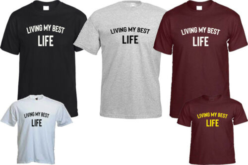 LIVING MY BEST LIFE T SHIRT FITNESS FASHION BLOGGER CHRISTMAS TOP GIFT
