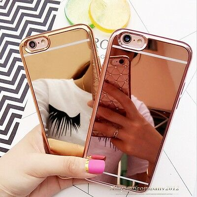 Luxury Ultra-thin Soft Silicone TPU Mirror Case Cover For Apple iPhone 6 6S Plus