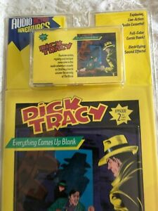 Dick-Tracy-2-Everything-Comes-Up-Blank-Cassette-Tape-amp-Comic-Book-Set-1990