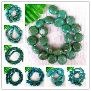 1-Strand-15-5inch-Natural-Green-Africa-Turquoise-Spacer-Loose-Beads-DIY-HH6298