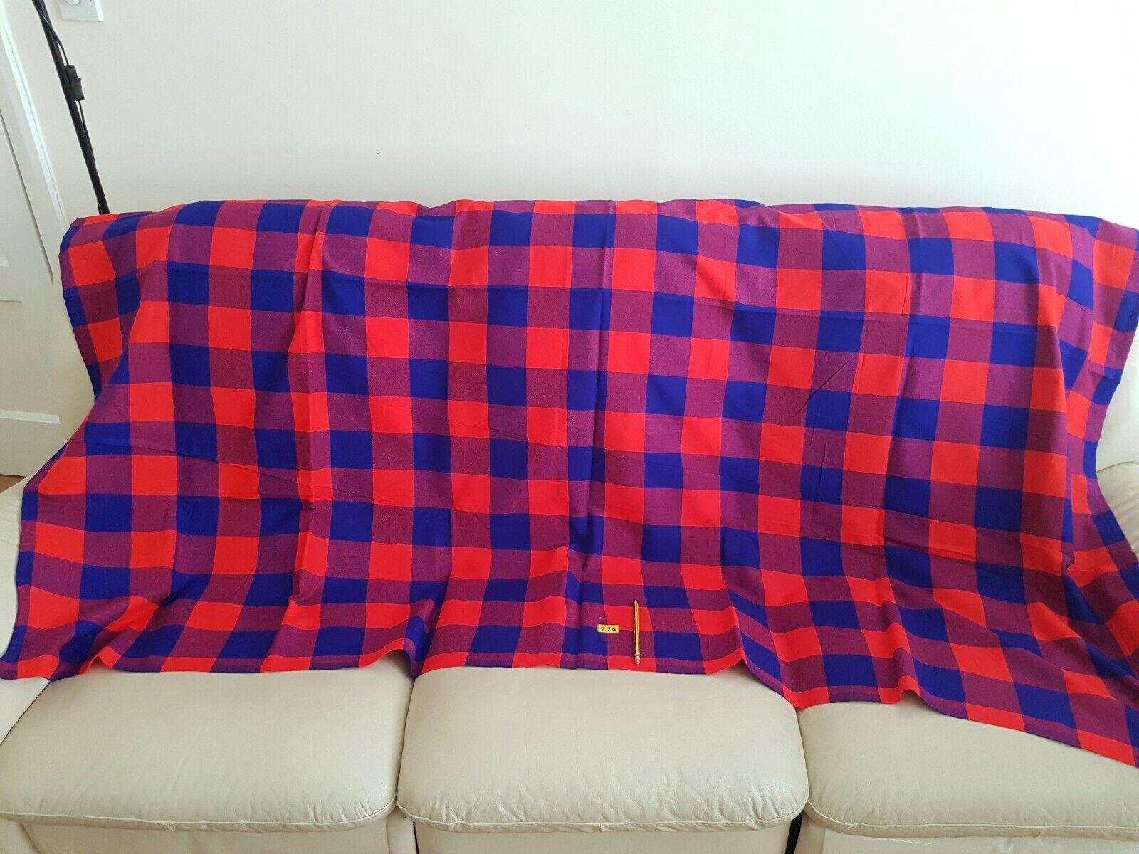 Maasai Shuka. Maasai Blankets #274 Masai Shuka.Masai Blankets Tribal Throw Wrap