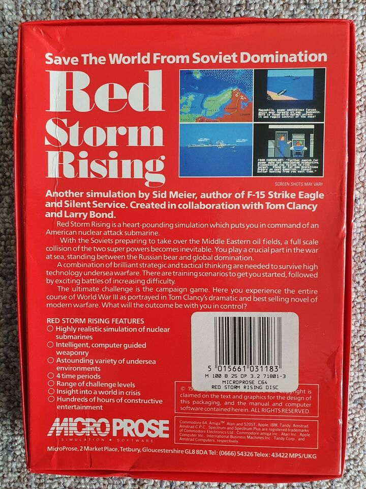 Red Storm Rising [Disk], Commodore 64