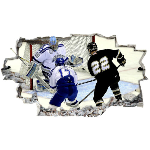 Wall Stickers Ice Hockey Sport Goal Boys  Bedroom Girls Boys Living Room C819