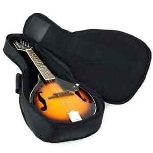 Hola! Heavy Duty A & F Style Mandolin Gig Bag (Soft Case) with 15mm Padding, Bla