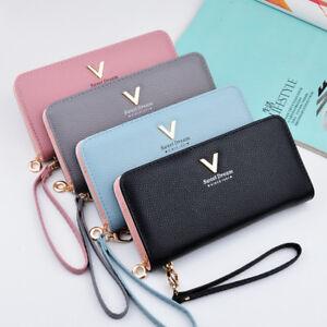 Women-Long-Leather-Wallet-Card-Holder-Zipper-Phone-Bag-Coin-Purse-Clutch-Handbag
