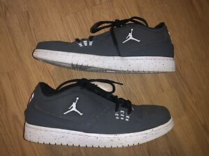 Rare-Lowtop-NIKE-JORDANS-Grey-white-Mens-Size-10-350610-009-Lightly-Used
