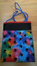 (TYE DYE PAW PRINTS!!!) Sugar Glider Bonding Pouch!!