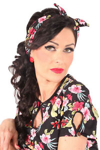 Details Zu Hibiskus Rockabilly Haarreif Pin Up Hawaiibluten Frisuren Haarband