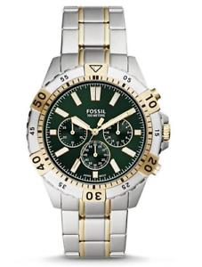 Fossil-Men-039-s-Garrett-Chronograph-Stainless-Steel-Watch-FS5622-44mm