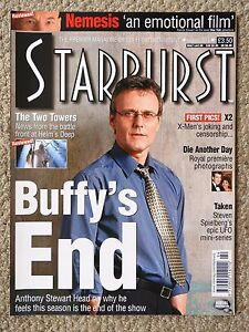 STARBURST MAGAZINE 294  BUFFY ANTHONY HEAD THE TWO TOWERS DIE ANOTHER DAY - Croydon, United Kingdom - STARBURST MAGAZINE 294  BUFFY ANTHONY HEAD THE TWO TOWERS DIE ANOTHER DAY - Croydon, United Kingdom