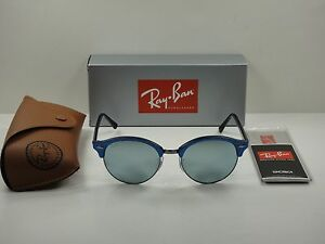 f81e95afd2f1b RAY-BAN CLUBROUND SUNGLASSES RB4246 984 30 BLUE SILVER MIRROR LENS ...