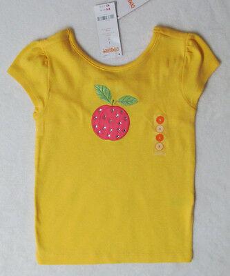 Gymboree PREPPY PEACH Yellow Gem Peach Bow Top Tee Shirt NWT 6 7 8 9 10 Spring