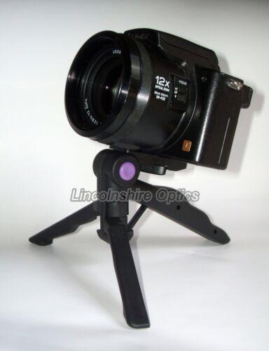 Olivon Pistol Grip Video Pin Mini trípode de mesa para cámaras y videocámaras