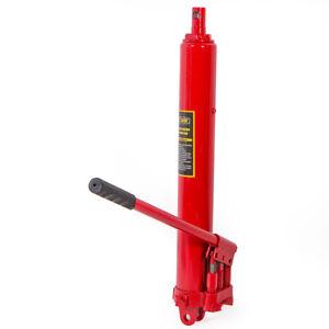 8 Ton Long Manual Hydraulic Ram Jack Double Pump Engine Lift