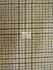 VINTAGE JACQUARD DESIGN WOOL APPAREL HOME FABRIC - Plaid - BY THE YARD CLOTHING