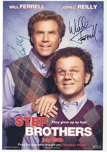 Step Brothers signed movie poster print