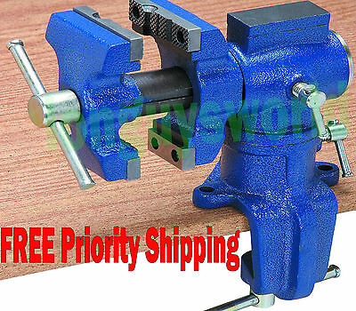 Small Mini Bench Clamp On Table Swiveling Vise Clampon Clamping Swivel Rotating