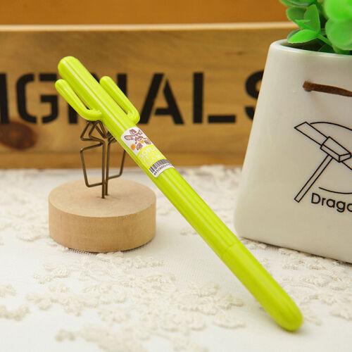 2pcs Office School Supplies Cute Cactus Design Gel Pen Ballpoint  Writing Pen