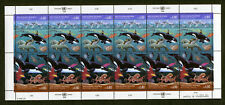 UNO Genf 213 - 214** postfrisch Bogen Saubere Meere Motiv Fische Wale Tiere MNH