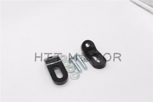 Black Touchless Tie-Downs Mount Bracket For Harley Touring Electra Glide FLHR