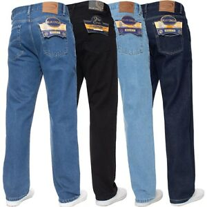 New Mens Straight Leg Basic Heavy Work Jeans Denim Pants All Waist Big Sizes