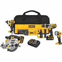 DEWALT 20V MAX Li-Ion 5-Tool Combo Kit - Refurbished