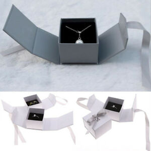 Fad-Jewelry-Gift-Bow-Ribbon-Paper-Box-Ring-Necklace-Ear-Stud-Wedding-Boxes-AU